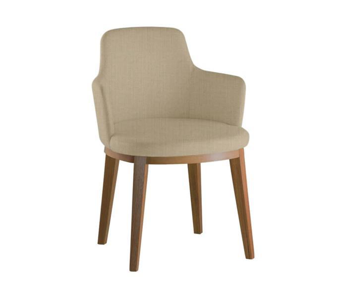 cadeira com braços estofada maxime 071504 cadeira com braços estofada maxime bege