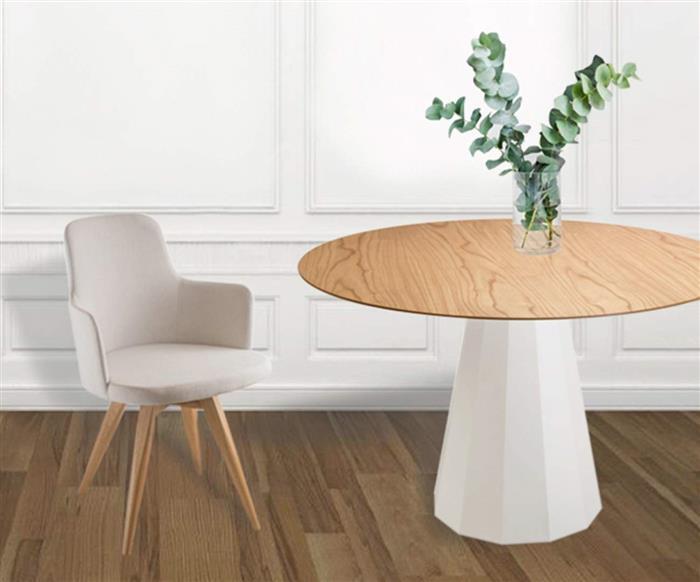 cadeira giratória base madeira hanover (tecido) 105408 cadeira giratória base madeira hanover cinza claro