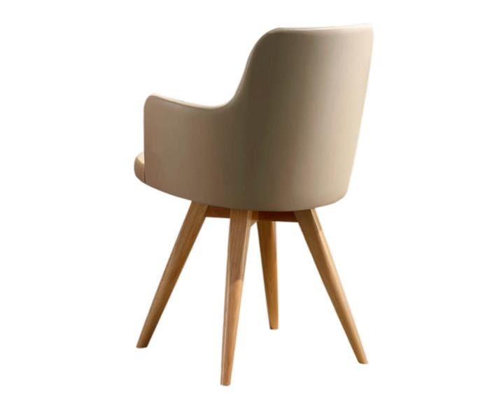 cadeira giratória base madeira hanover (couro sintético) 114604 cadeira giratória base madeira hanover (couro sintético) bege