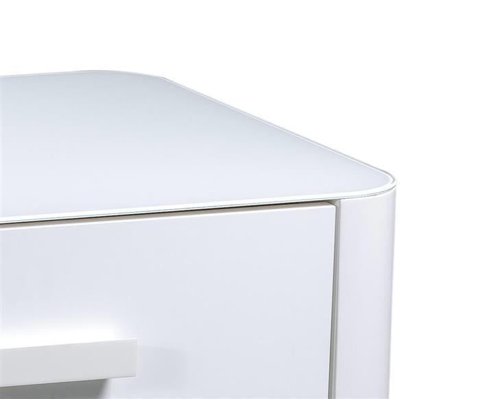 mesa de cabeceira em laca e vidro must 128106 mesa de cabeceira branca em laca e vidro must
