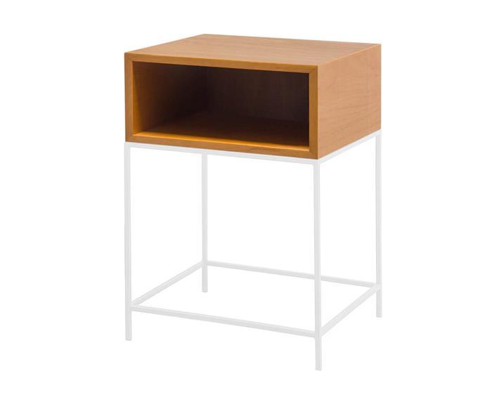 mesa de cabeceira em madeira e metal simple 123806 mesa de cabeceira em madeira e metal branco 1