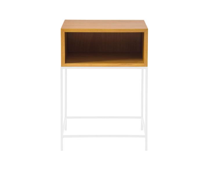 mesa de cabeceira em madeira e metal simple 123806 mesa de cabeceira em madeira e metal branco 2