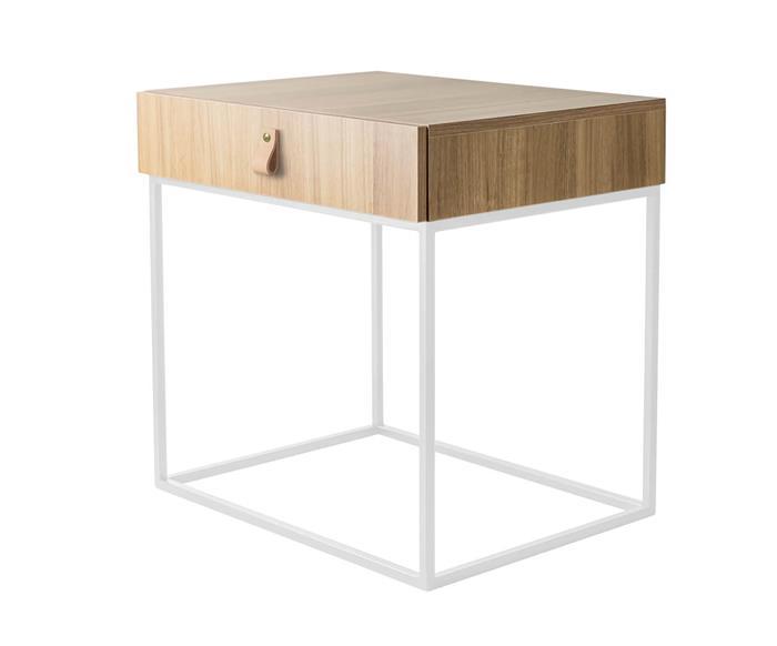 mesa de cabeceira em metal e madeira oviedo 114906 mesa de cabeceira em madeira e metal branco oviedo