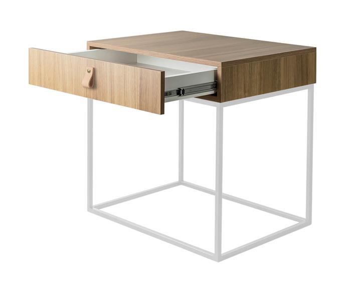 mesa de cabeceira em metal e madeira oviedo 114906 mesa de cabeceira em madeira e metal branco oviedo 2