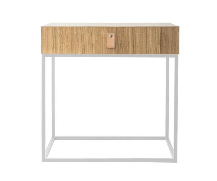 mesa de cabeceira em metal e madeira oviedo 114906 mesa de cabeceira em madeira e metal branco oviedo 3
