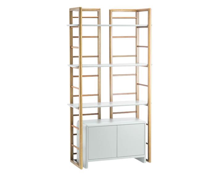 estante em madeira e laca com balcão dresden 123506 estante em madeira e laca branca com portas