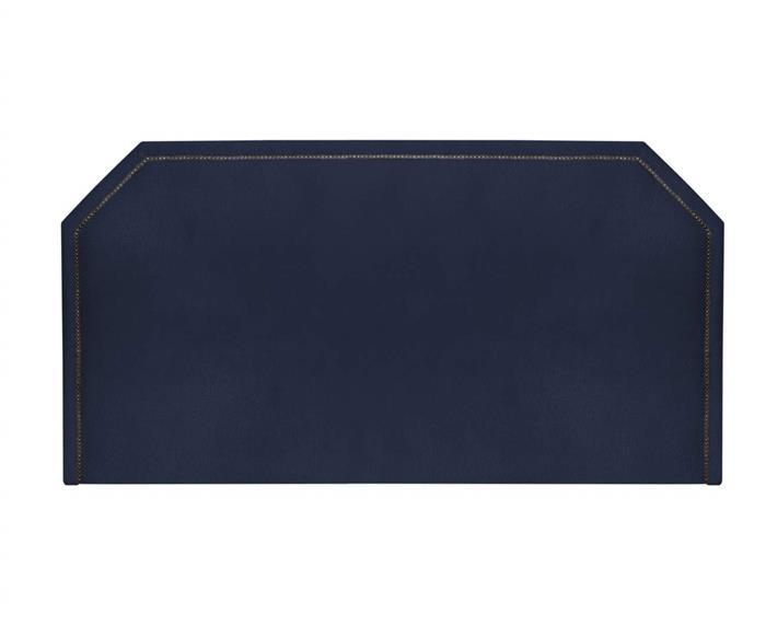 cabeceira com tachas casal (em veludo) 097903 cabeceira com tachas casal em veludo azul
