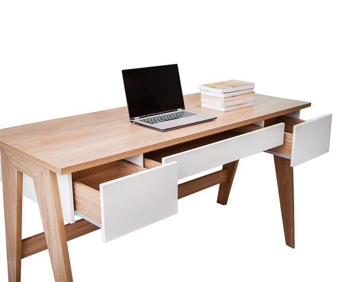 escrivaninha com gavetas daros 028506 escrivaninha com gavetas daros branco