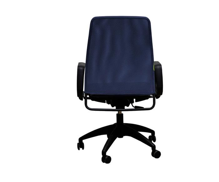 cadeira de escritório com braços job 032102 cadeira de escritório com braços job azul