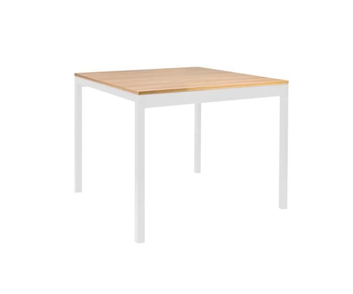 mesa de jantar quadrada em metal e madeira square 089906 mesa de jantar quadrada em metal e madeira square branca