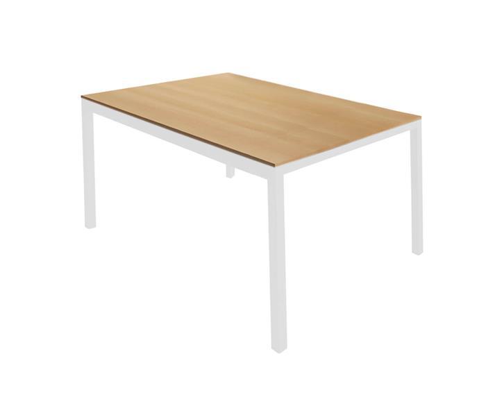 mesa de jantar retangular em metal e madeira square 089706G mesa de jantar retangular em metal e madeira square branca
