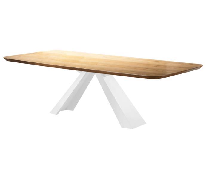 mesa de jantar retangular portofino (tampo em madeira) 106506G mesa de jantar retangular portofino (tampo em madeira) branco