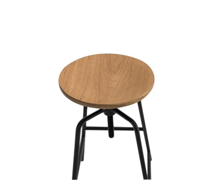 banqueta industrial altura regulável base quadrada 105917 banqueta industrial em metal e madeira clara