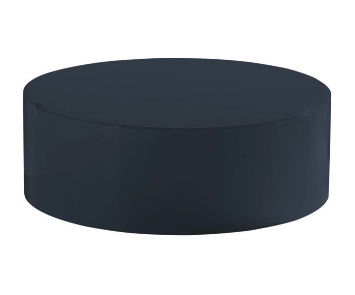mesa de centro redonda em laca circolo 020103 mesa de centro redonda em laca circolo azul marinho