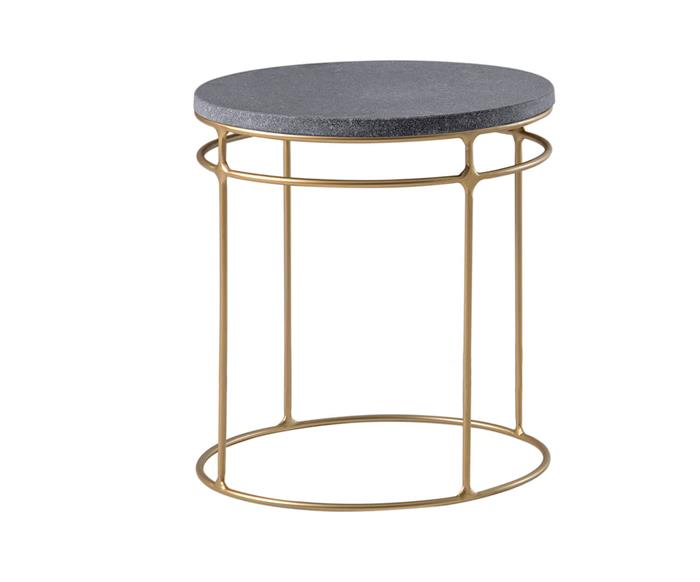 mesa lateral redonda genebra em granito 120814 mesa lateral redonda genebra em granito dourada