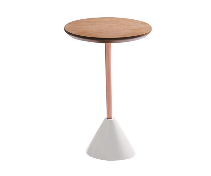 mesa lateral coni em cobre 081106 mesa lateral coni em cobre branca