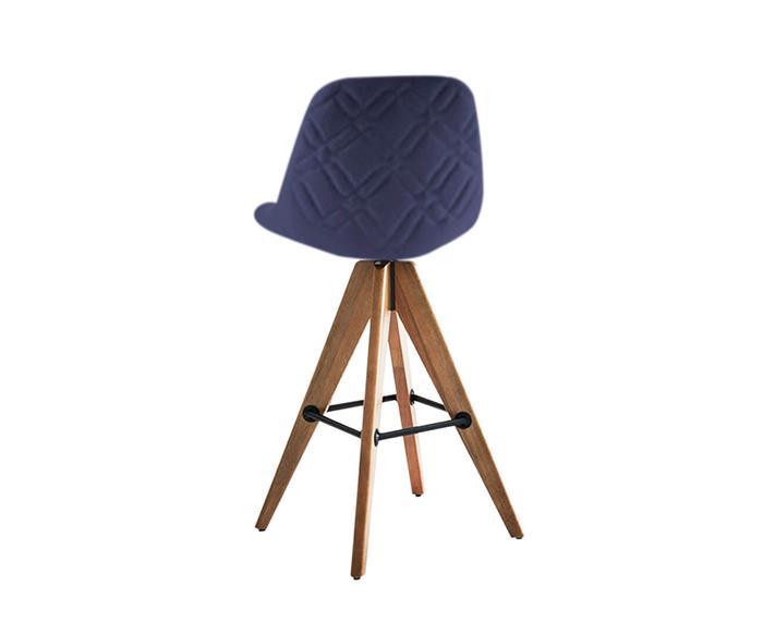banqueta de madeira giratória compasso 087903 banqueta de madeira giratoria azul marinho