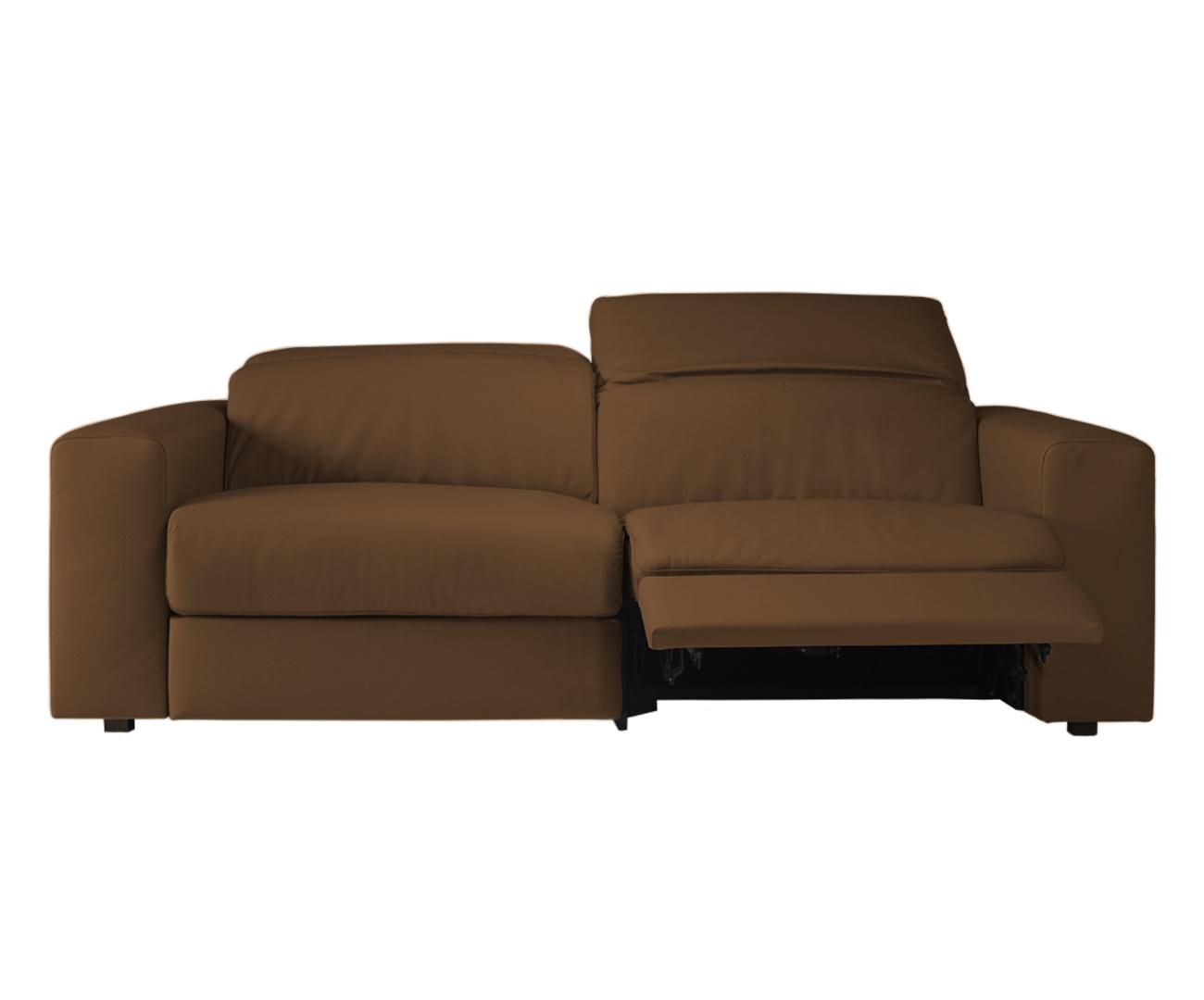 sofá retrátil elétrico em couro natural 2 lugares chelsea ...