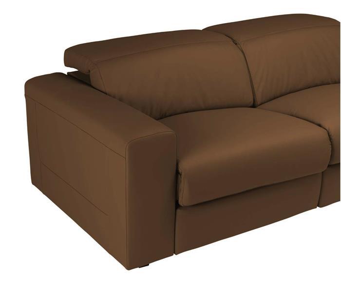 sofá retrátil elétrico em couro natural 2 lugares chelsea 127014  sofá retrátil elétrico em couro natural caramelo 2