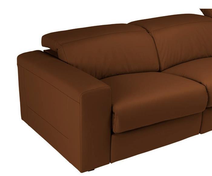 sofá retrátil elétrico em couro natural 3 lugares chelsea 127114 sofá retrátil elétrico em couro natural 3 lugares caramelo 1