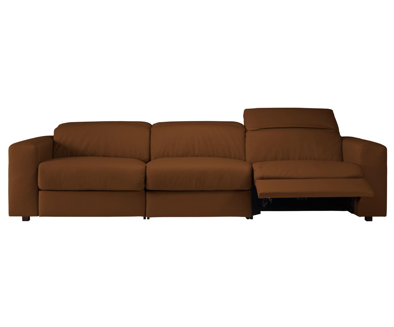 sofá retrátil elétrico em couro natural 3 lugares chelsea ...