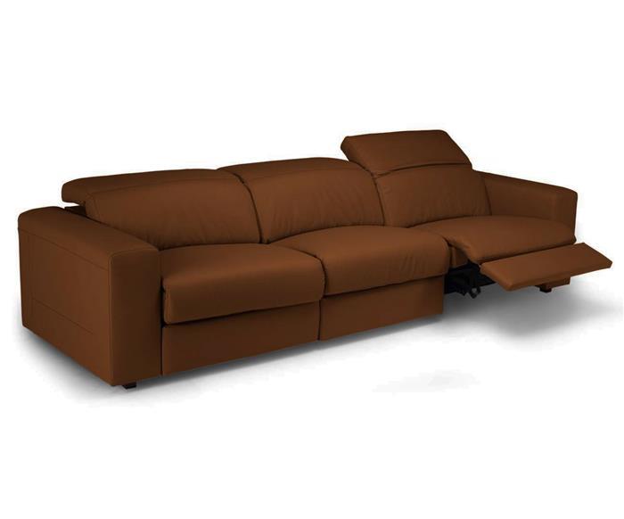 sofá retrátil elétrico em couro natural 3 lugares chelsea 127114 sofá retrátil elétrico em couro natural 3 lugares caramelo 3