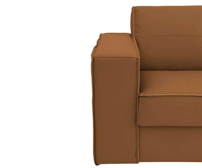 sofá em couro natural 3 lugares san francisco (com molas) 126907G sofá em couro natural CARAMELO (com molas) 2