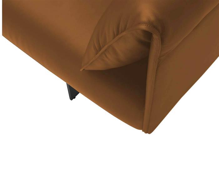 sofá em couro natural taormina 126807 sofá em couro natural caramelo moderno contemporaneo 1