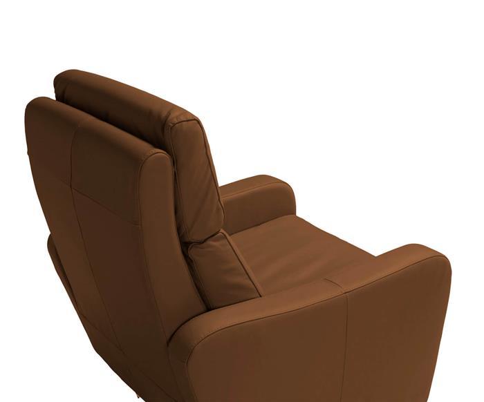 poltrona reclinável em couro natural moderna 123914 poltrona reclinável em couro natural moderna caramelo