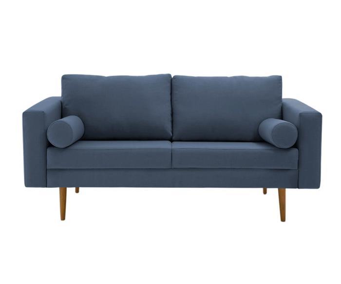 sofá pequeno celine 150cm 090901 sofá azul pequeno 150cm pe madeira