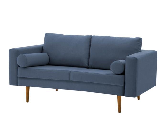 sofá pequeno celine 150cm 090901 sofá azul pequeno 150cm pe madeira 1