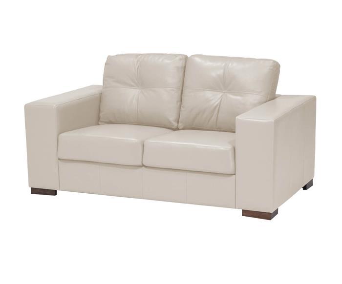 sofá compacto em couro natural milão 011813 sofá compacto em couro natural bege cru