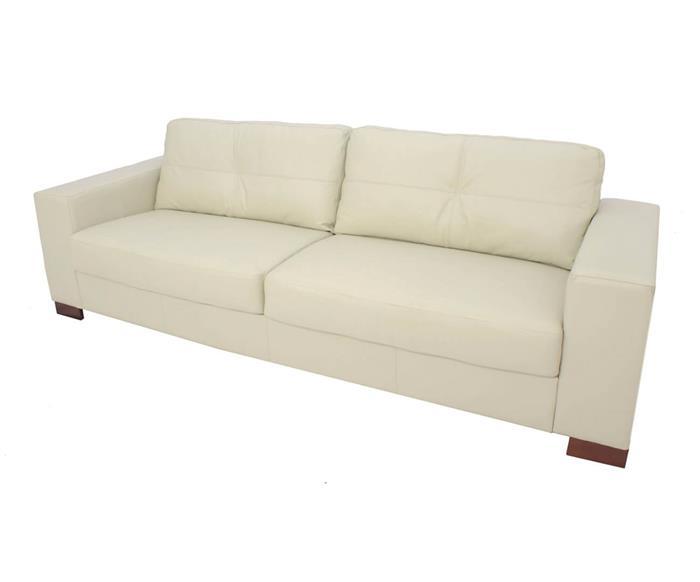 sofá 3 lugares em couro natural milão 020313 sofá 3 lugares em couro natural off whiite cru 1