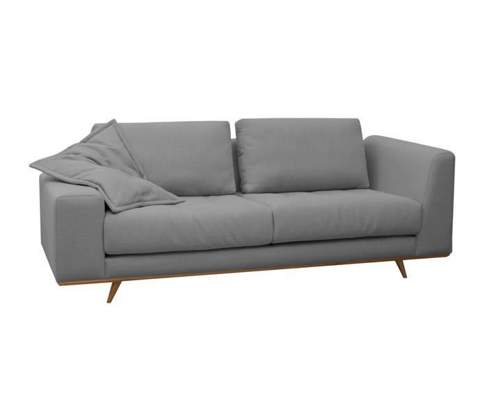 sofá em linho relevo 026509 sofá design contemporâneo em linho