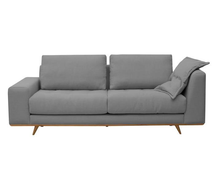 sofá em linho relevo 026509 sofá fixo design contemporâneo em linho
