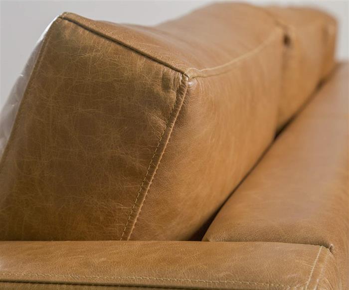 sofá em couro lyon 3 lugares 108907 sofá em couro natural caramelo contemporâneo pés metal