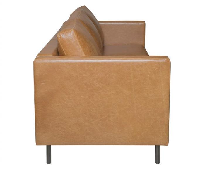 sofá em couro lyon 3 lugares 108907 sofá em couro natural caramelo contemporâneo pés metal 2