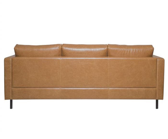 sofá em couro lyon 3 lugares 108907 sofá em couro natural caramelo contemporâneo pés meta 3