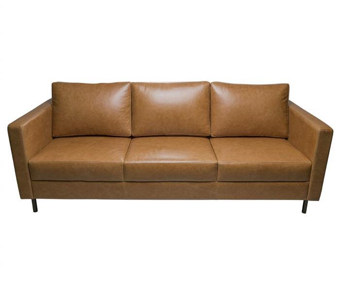 sofá em couro lyon 3 lugares 108907 sofá em couro natural caramelo contemporâneo pés meta 5