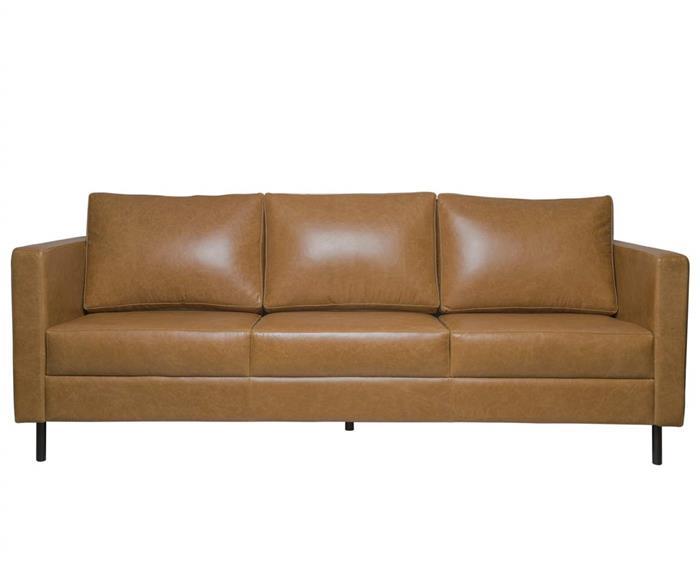sofá em couro lyon 3 lugares 108907 sofá em couro natural caramelo contemporâneo pés meta 6