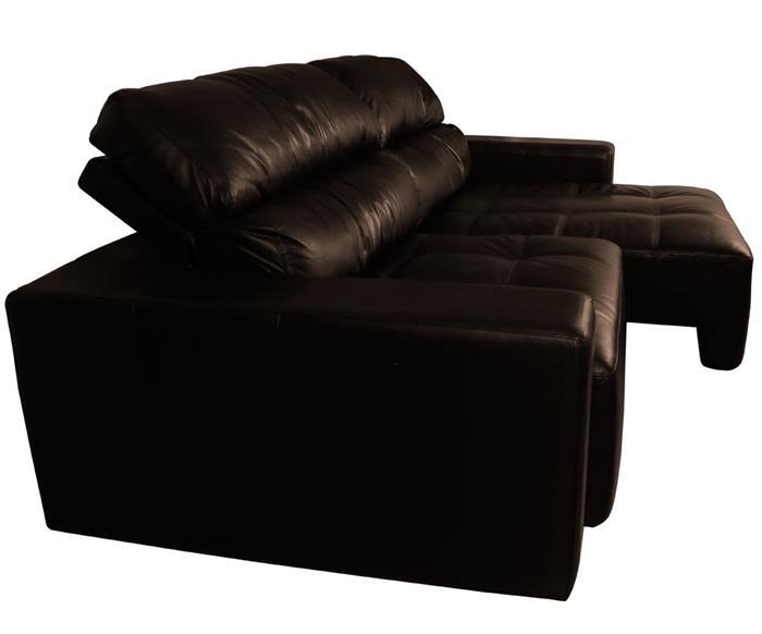 sofá 3 lugares retrátil em couro natural london 024819 sofá 3 lugares retrátil e reclinável em couro natural marrom 2