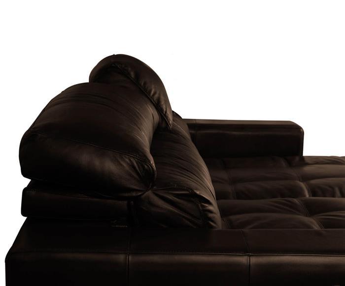 sofá 3 lugares retrátil em couro natural london 024819 sofá 3 lugares retrátil e reclinável em couro natural marrom 3