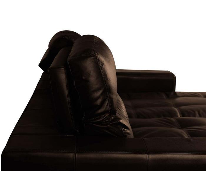 sofá 3 lugares retrátil em couro natural london 024819 sofá 3 lugares retrátil e reclinável em couro natural marrom 4