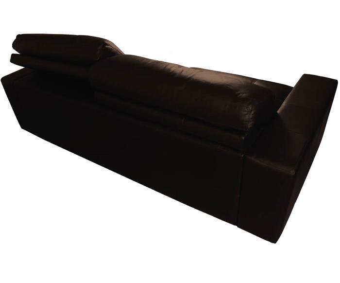 sofá 3 lugares retrátil em couro natural london 024819 sofá 3 lugares retrátil e reclinável em couro natural marrom 5