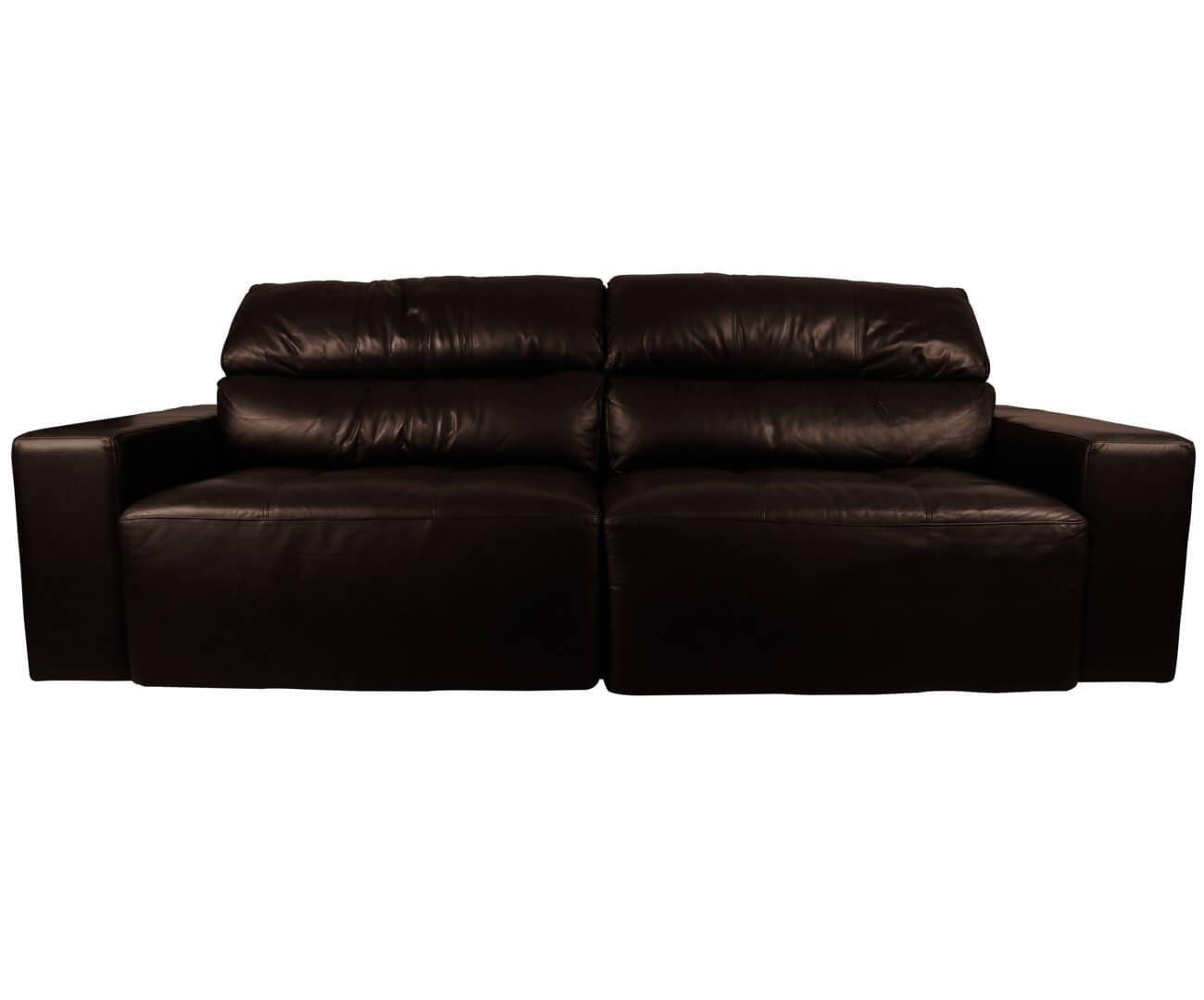 sofá 4 lugares retrátil em couro natural london - Ondo
