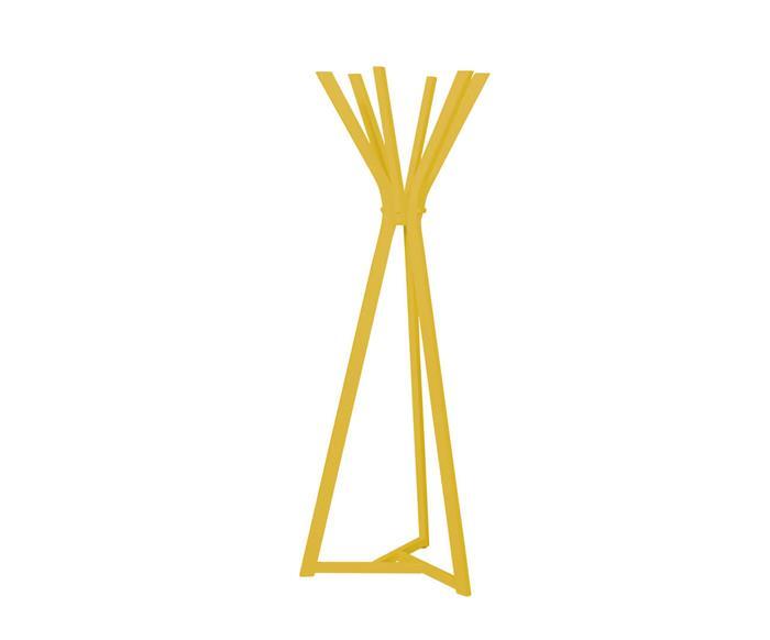 cabideiro em madeira tria 034201 cabideiro em madeira tria amarelo
