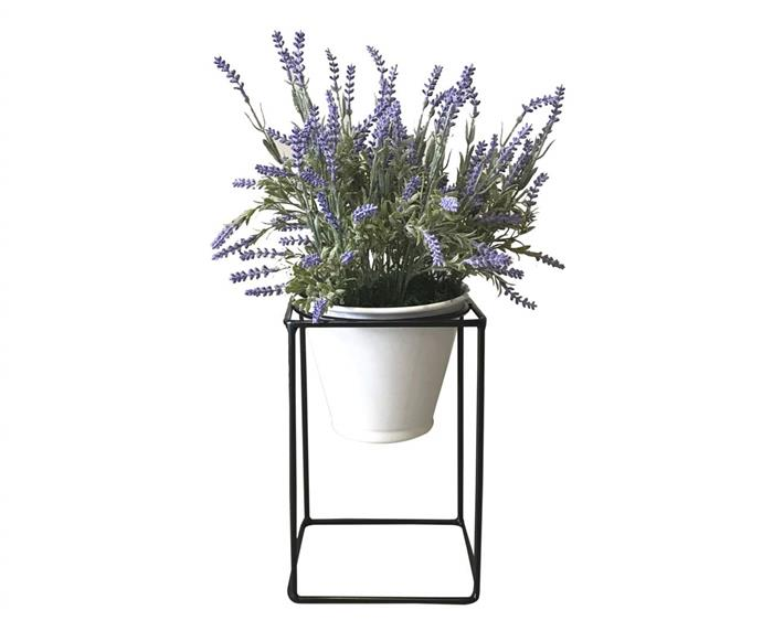 suporte para plantas com vaso garden (pequeno) 112623 suporte para plantas com vaso garden preto e branco (pequeno)