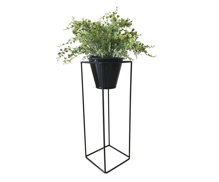 suporte para plantas com vaso garden (médio) 112722 suporte para plantas com vaso garden preto (médio)