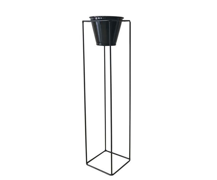 suporte para plantas com vaso garden (grande) 112822 suporte para plantas com vaso garden preto (grande)