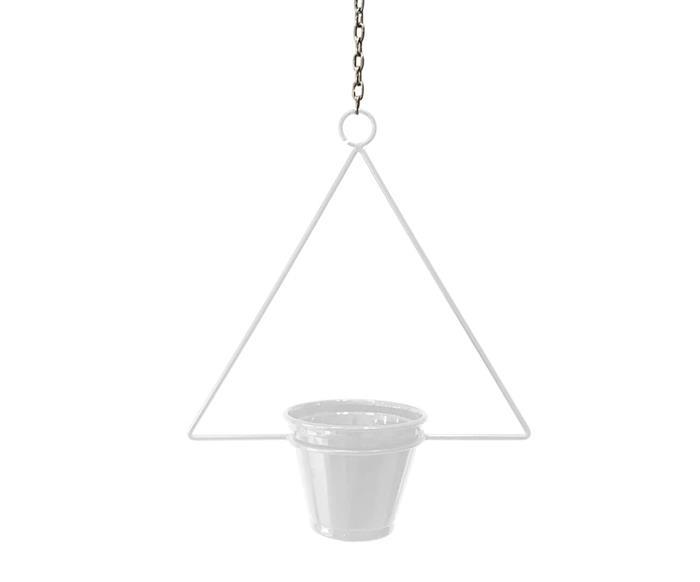 suporte de teto para plantas triângulo 112906 suporte de teto para plantas triângulo branco